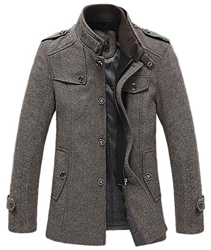 Single Breasted Military Peacoat