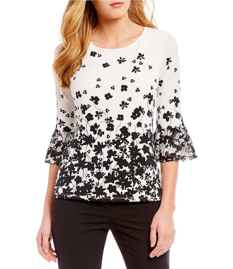 women's long bell sleeve tops